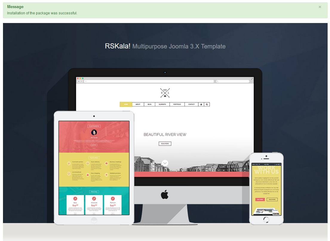 Installing RSKala! 3.x Joomla! template Step 4
