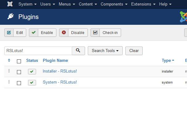 Go to Installer Plugin RSLotus!