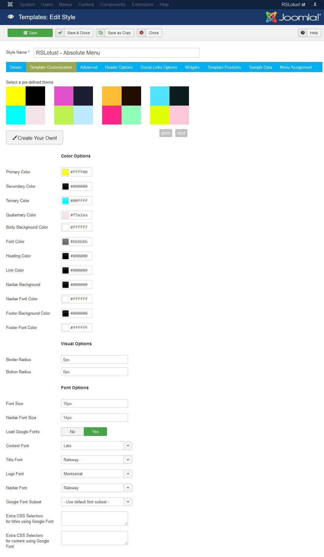RSLotus! Joomla! 3.x template Advanced Tab preview 1