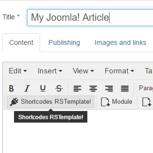 Accessing rsmalta! Shortcodes with other editors installed