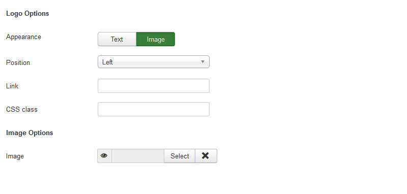 RSMalta! Joomla! 3.x template Header Options Tab preview