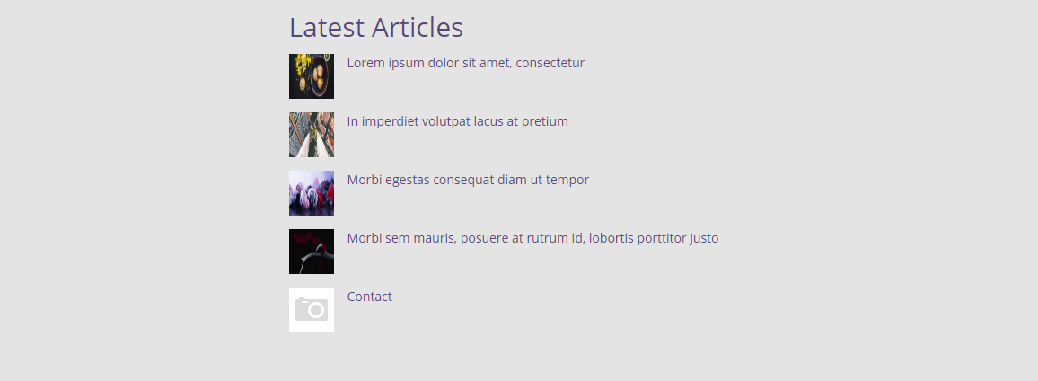 Articles - Latest default layout front end