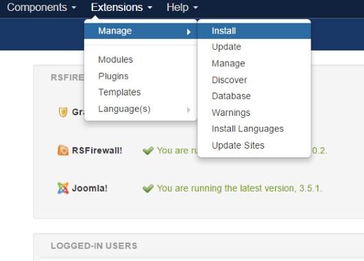 Installing RSMalta! 3.x Joomla! template Step 2