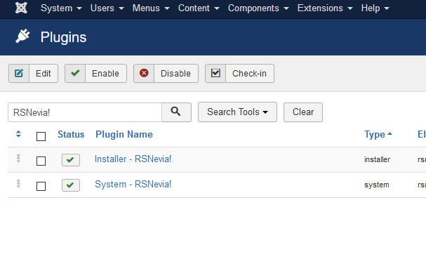 Go to Installer Plugin RSNevia!