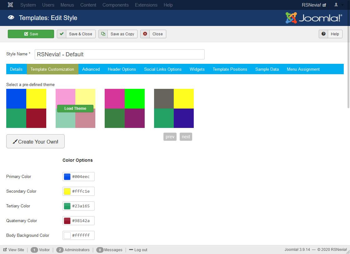 RSNevia! - Screenshot Back End 2