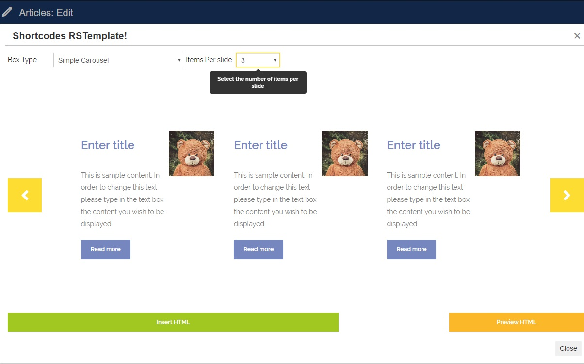 RSNoticia! - Simple Carousel three items per slide preview