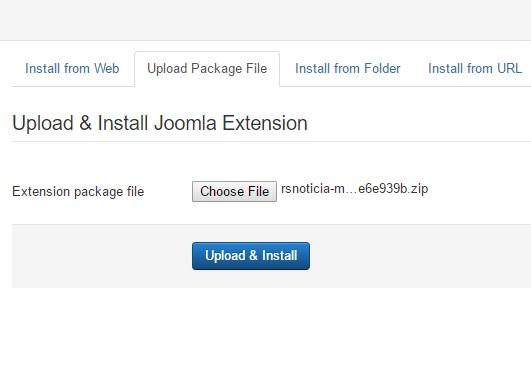 Installing RSNoticia! 3.x Joomla! template Step 3