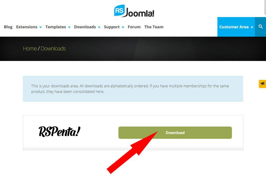 How to Download Template on RSJoomla! website 3