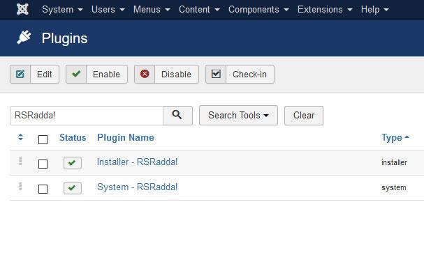Go to Installer Plugin RSRadda!