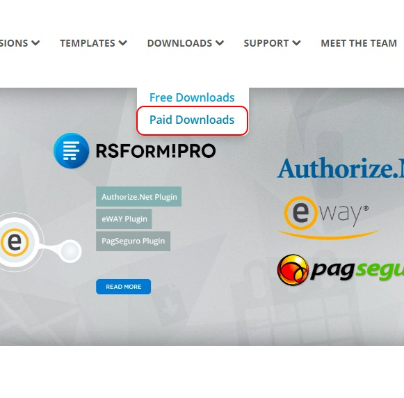 How to Download Template on RSJoomla! website 2