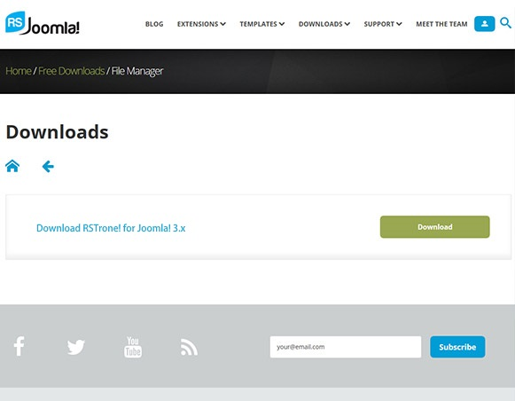 How to Download Template on RSJoomla! website 2