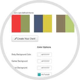 20 predefined color schemes